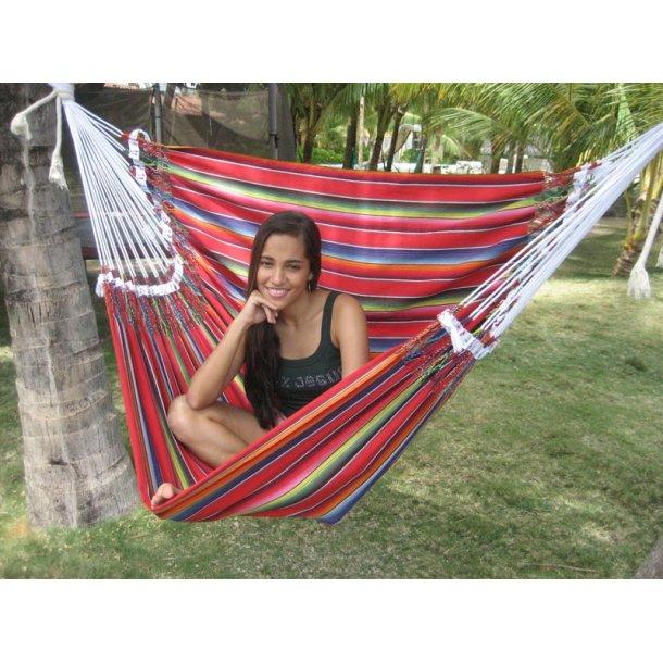 Mexikansk hängmattsstol i tyg