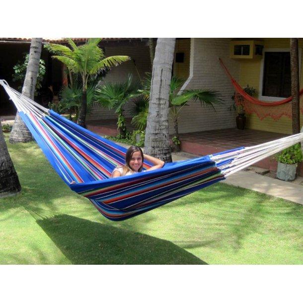 Blå Mexiko färger, hängmatta i slitstarkt tyg